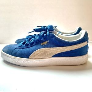 Puma Classic Suede Blue Sneakers Size 7.5 Shoes